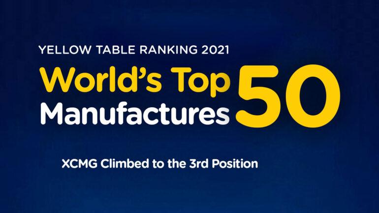XCMG, TOP 3 Global en la Yellow Table 2021 de KHL.